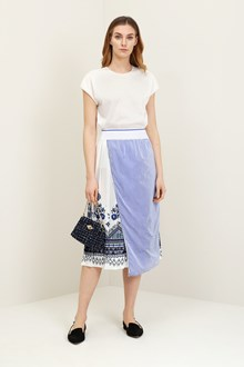 Ballantyne White t-shirt with pleats