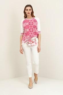 Ballantyne Azulejos jacquard pullover