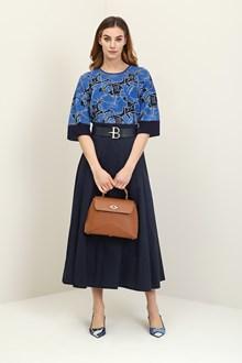 Ballantyne Blue jacquard floral t-shirt