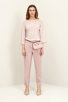 Ballantyne Basic pullover in pink cotton