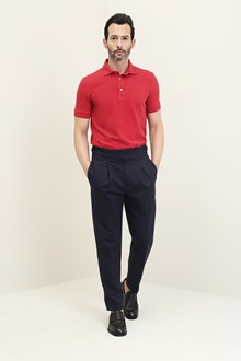 Ballantyne Red short sleeve piquet polo