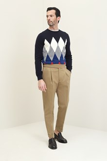Ballantyne Blue shaved knitted pullover