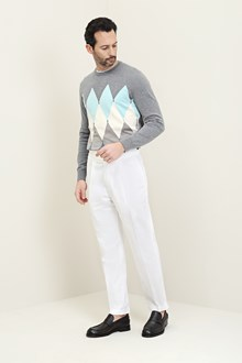 Ballantyne Gray shaved knitted pullover