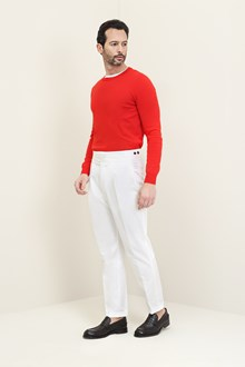 Ballantyne Red cotton crew neck pullover