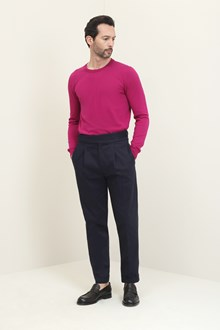 Ballantyne Grape-colored crew-neck pullover