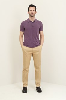Ballantyne Cotton cherry-colored polo