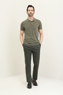 Ballantyne  Olive green cotton polo