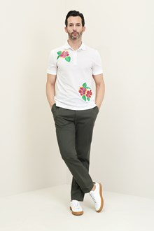 Ballantyne Short sleeve piquet polo with embroidery