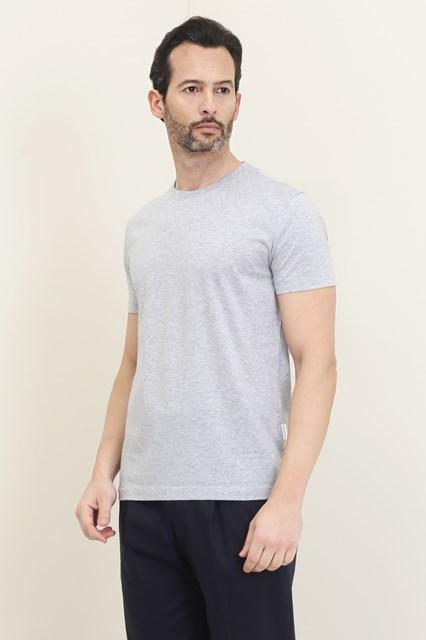 Ballantyne Basic t-shirt in grey melange cotton