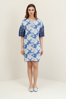 Ballantyne Abito foulard jacquard floreale blu
