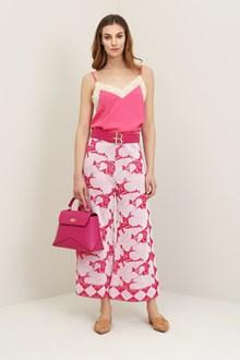 Ballantyne Pink jacquard foulard trousers