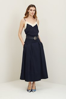 Ballantyne Navy black high-waisted skirt