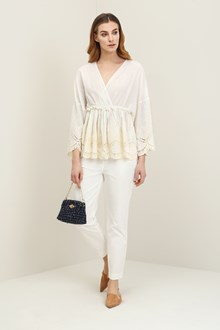 Ballantyne Blouse with broderie anglaise bottom