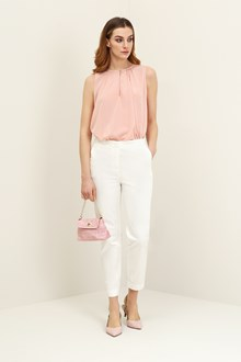 Ballantyne Pink silk tank top