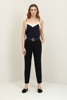 Ballantyne Black ankle trousers