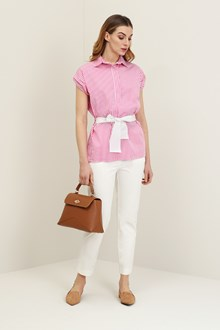 Ballantyne Striped shirt with belt