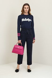Ballantyne Dark blue trousers with bow