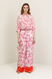 Ballantyne Camicia oversize hibiscus