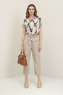 Ballantyne Sand colour trousers with bow