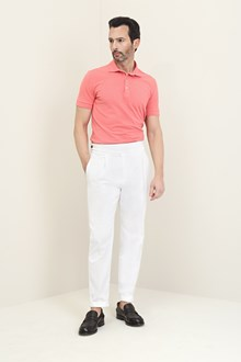 Ballantyne Short-sleeved polo in pink piquet