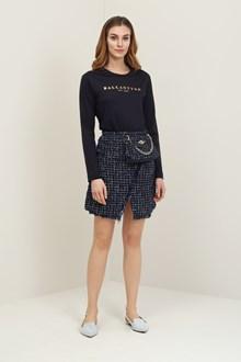 Ballantyne Knitted dark blue sweatshirt