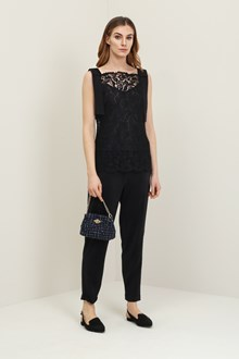 Ballantyne Black lace tank top