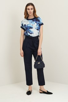Ballantyne Hibiscus blouse with lurex details
