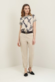 Ballantyne Flower diamond blouse with lurex details