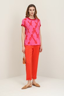 Ballantyne Blouse flower diamond with lurex details