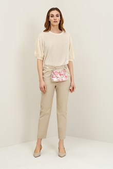 Ballantyne Light beige ankle trousers