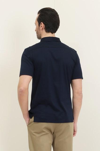 Ballantyne Short sleeve blue Makò polo
